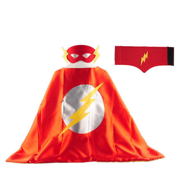 1 Cape +1 Mask+1pc wristband spiderman superman sets boys kids superhero capes costume superhero suits for kids gift birthday Deals Blast