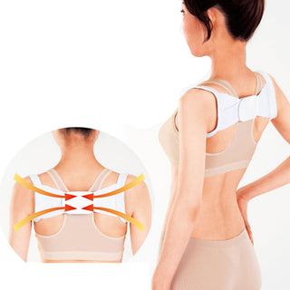 Hot Sale New 1 Pair Adjustable Therapy Back Lumbar Support Brace Belt Body Posture Shoulder Corrector Correction Deals Blast