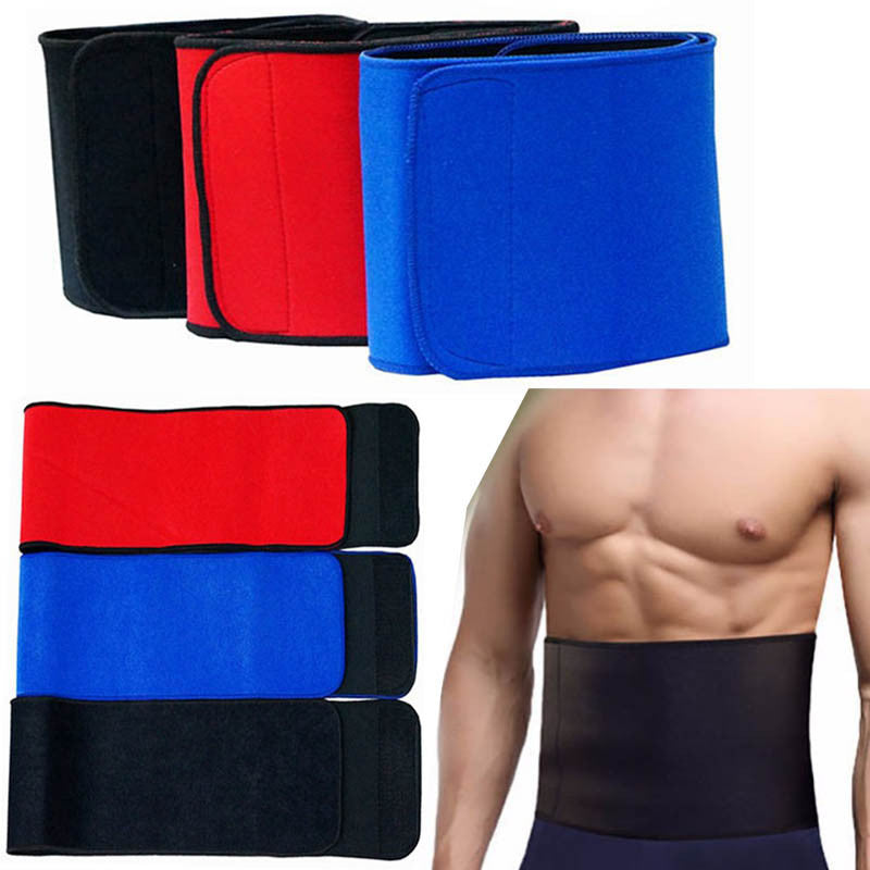 Slimming belt Men Women Waist Trimmer Back Braces Lower Waist Lumbar Belt massage Breathable female male warm support tool Belt Deals Blast