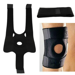 New Adjustable Elastic Knee Brace Support Fastener Patella Guard Black Sponge Basketball Skating Protection Strapp Elbow Pads: Deals Blast