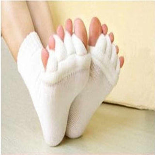 1Pair High Quality Toe Socks Finger Separator Massage Sleeping Health Foot Care Relaxing Compression Sock Foot Pain Relief - Deals Blast