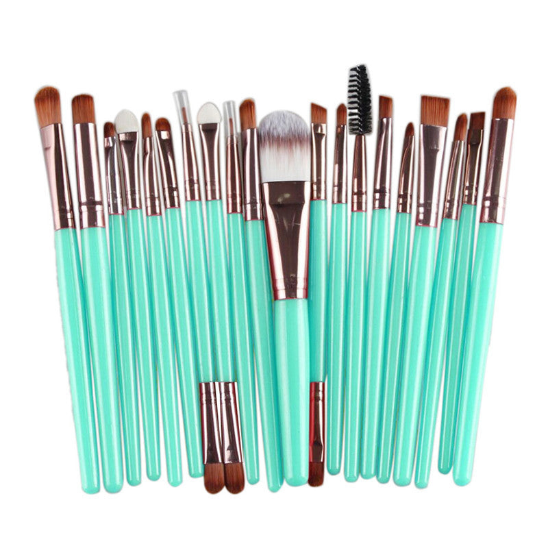 20 pcs Makeup brushes sets Pro hair eyebrow foundation brush pen cleaner Cosmetics maquiagem make up brush set Blusher cosmetics Deals Blast