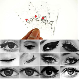 3pcs/set Cat Eye & Smokey Eye Makeup Eyeliner Models Template Top Bottom Eyeliner Card for Eye Auxiliary Tools Eyeliner Stencils - Deals Blast