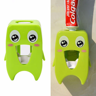 Plastic Cartoon Wall-mounted Adhesive Automatic Toothpaste Dispenser Squeezer Deals Blast