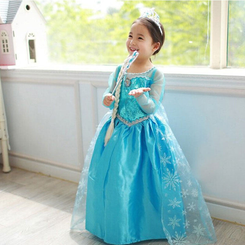 High Quality Girl Dresses Princess Children Clothing Anna Elsa Cosplay Costume Kid's Party Dress Baby Girls Clothes Deals Blast