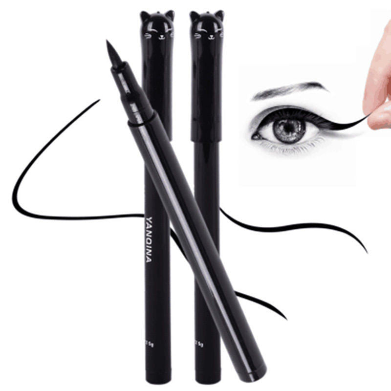 1PC NEW Beauty Cat Style Black Long-lasting Waterproof Liquid Eyeliner Eye Liner Pen Pencil Makeup Cosmetic Tool - Deals Blast