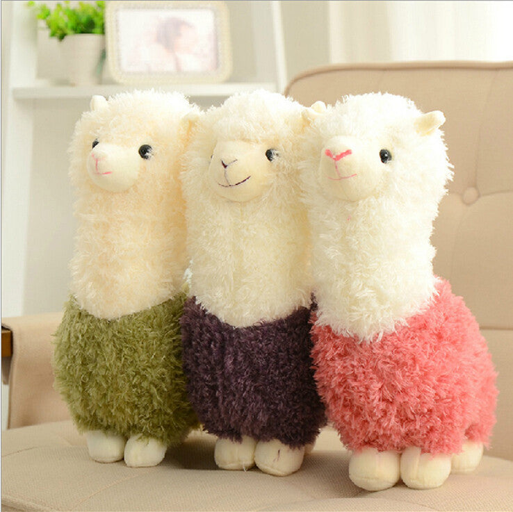 "1pcs 8"" 20cm Hot cartoon Lovely Alpaca Sheep Plush Stuffed Toy Room Decoration Fashion creative fill plush toys Child gifts - Deals Blast"