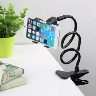 Goose neck Black 360 Rotating Flexible Long Arm Cell Phone Holder Clamp Lazy Bed Tablet Car Selfie Mount Bracket for Smart Phone: Deals Blast