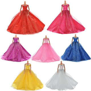 7 Colors Elegant Summer Clothing Gown For Barbie doll Handmake wedding princess Dress Beaty Doll Party Dress Deals Blast