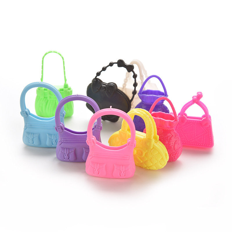 10 PCS Mix Styles and color Doll Bags Toy For Barbie Girls Kids Birthday Christmas Gift Cute Dolls Accessories Deals Blast
