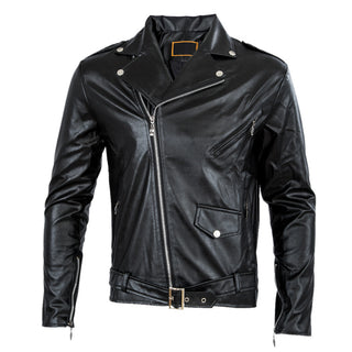 SAF-Men's Cool Fit Punk Zip Motorcycle Jacket Deals Blast