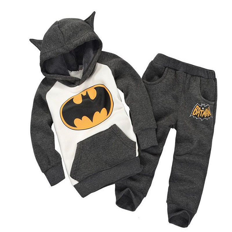 Baby Boy Clothes Sets Hooded Tracksuit Boys Clothes Winter Spiderman Kids Clothes for Children Cotton Boys Sweatshirt Suits Deals Blast