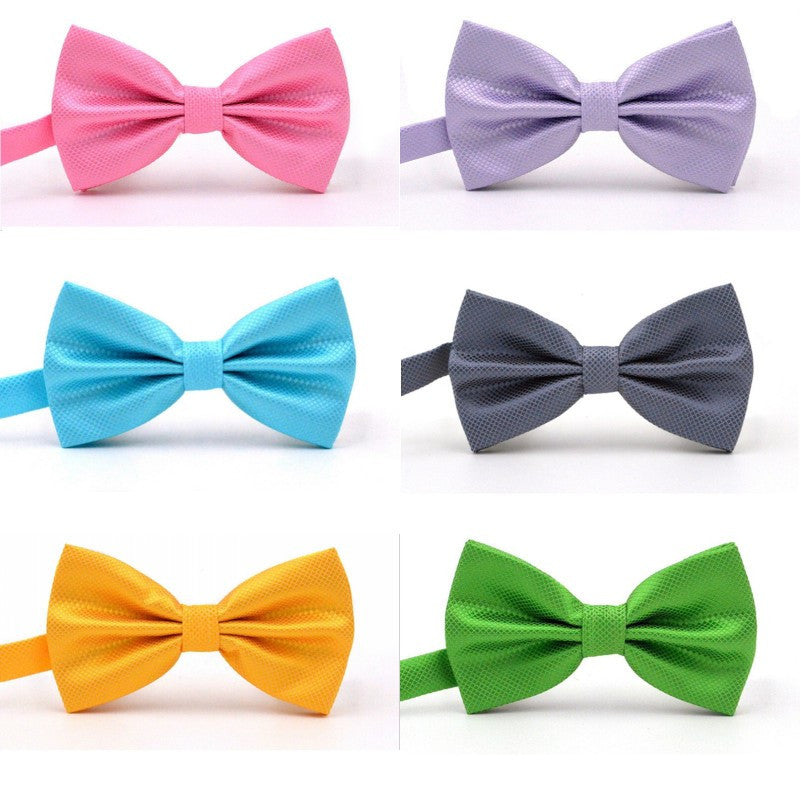 20 Colors Solid Fashion Bowties Groom Men Colourful Plaid Cravat gravata Male Marriage Butterfly Wedding Bow ties - Deals Blast