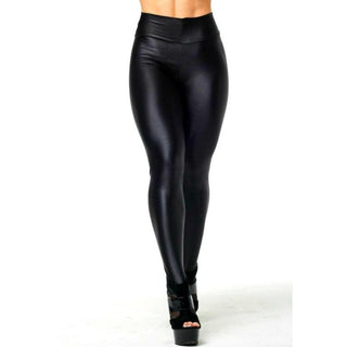 Fashion Women Pants Shiny Elastic High Waist Stretchy Candy Colors Ladies Dance Leggings Slim Fit Nine pants: Deals Blast