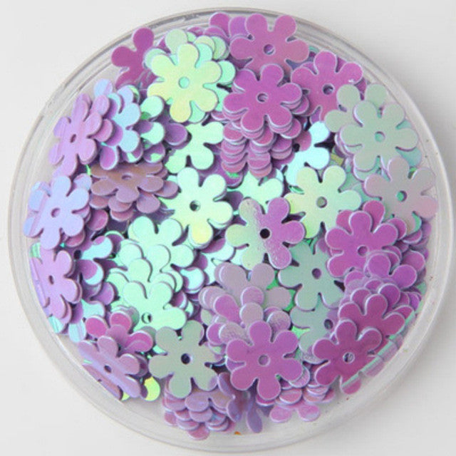 1000pcs 9mm 8#Purple AB Flat Flower Centre Hole Loose Sequin Paillette Sewing,Wedding Craft,Kids DIY Garment Accessories - Deals Blast