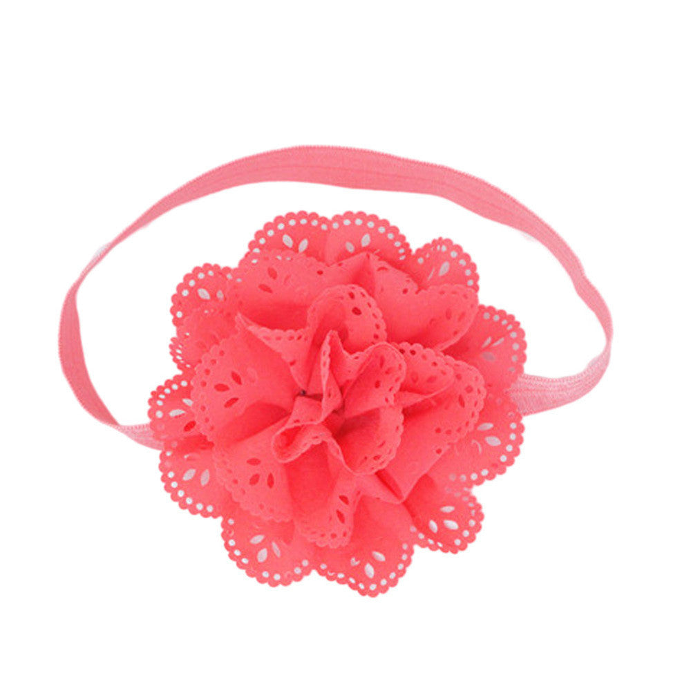 Deals Blast: Fancy Kids Headband European American Style Korean Mesh Elastic Children's Hairband Baby Colorful Flower Cute Hair Accessories Deals Blast