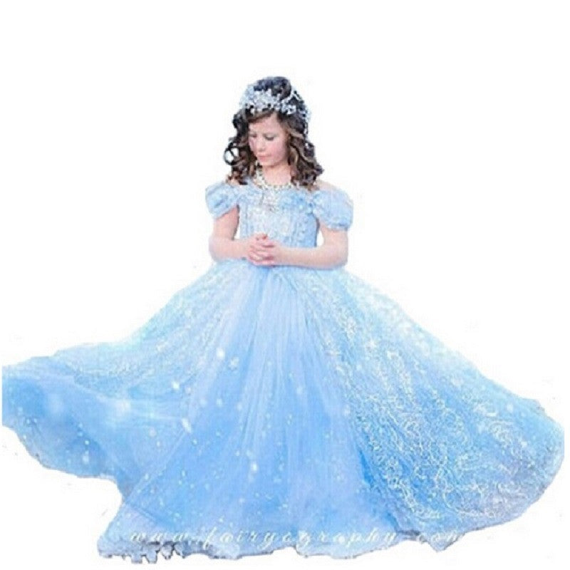 Christmas Girl Dress #PrincessDresses Cinderella Dresses Anna Elsa Cosplay Costume Kids Party Dress Baby Girls Clothes - Deals Blast