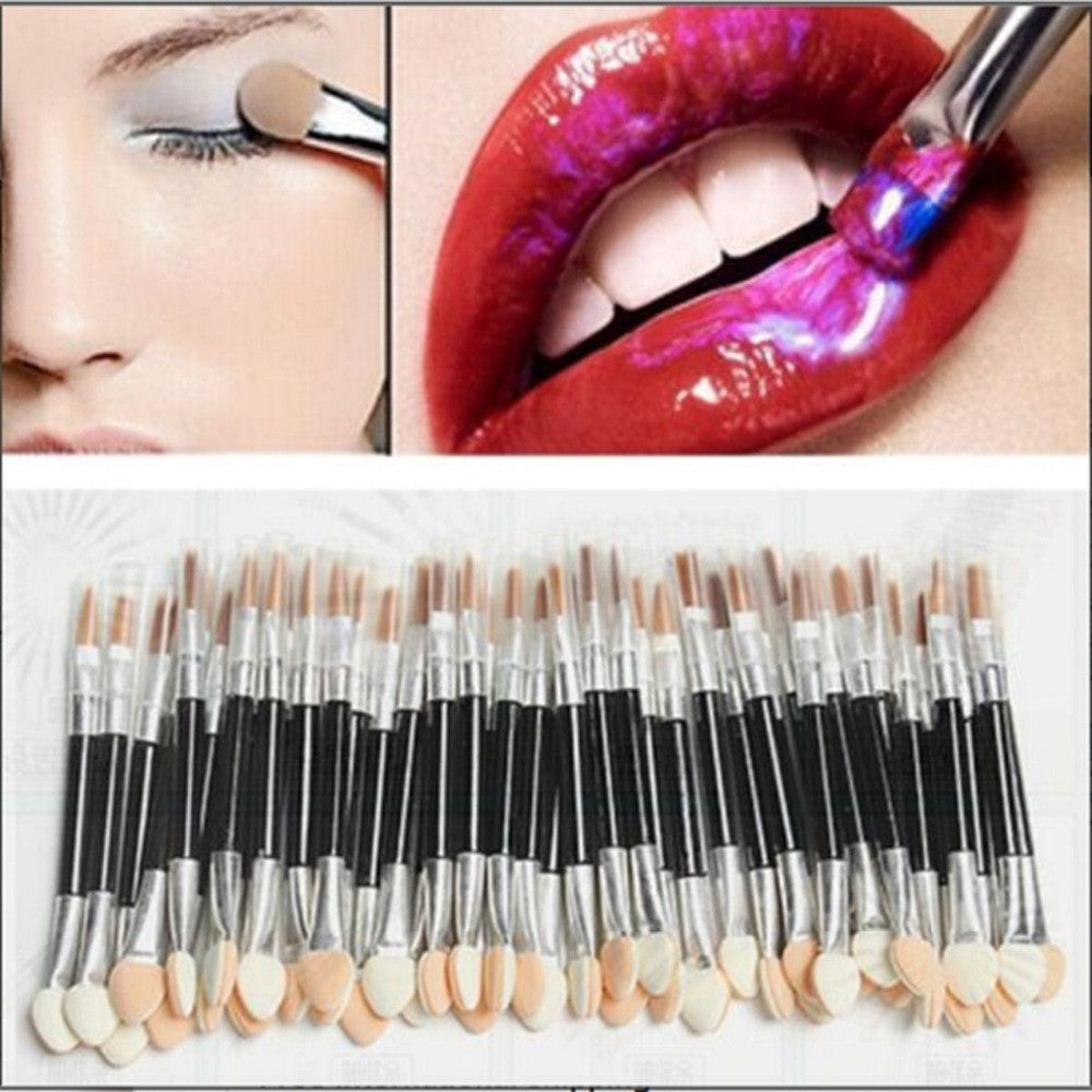 10Pcs/set Makeup Double-end Eye Shadow Eyeliner Cosmetic Brushes Women Sponge Applicator Tool for Women Lady Make up Beauty - Deals Blast