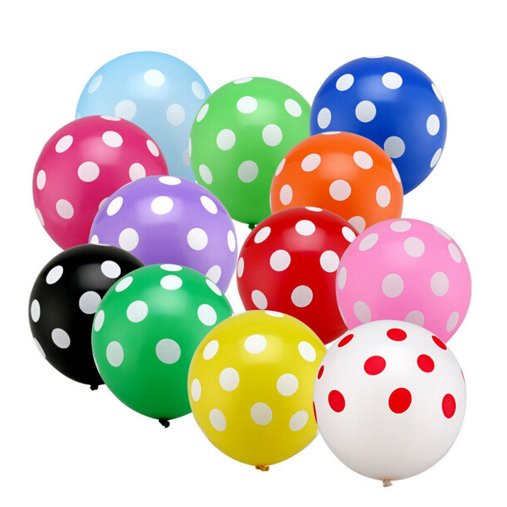 10pcs12 inch dots latex balloons Globos hotel point inflatable birthday party balloon wedding decoration Kids Toys Ball gifts - Deals Blast