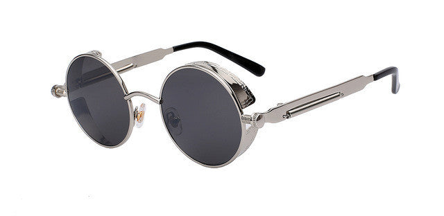 Round Metal Sunglasses Steampunk Men Women Fashion Glasses Brand Designer Retro Vintage Sunglasses UV400 - Deals Blast