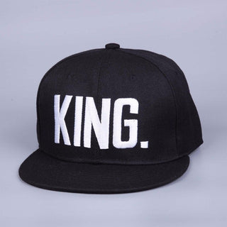 Fashion KING QUEEN Hip Hop Baseball Caps Embroider Letter Couples Lovers Adjustable Snapback Sun Hats for Men Women: Deals Blast