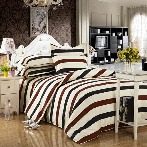 2016 New 3 Pcs/4 Pcs Home Bedding Sets Bed King Quilt Duvet Cotton Bedding-set Pillows Cover Sheet No Comforter - Deals Blast