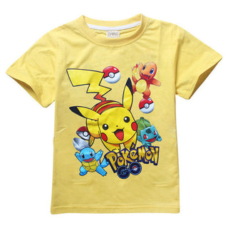 Boys clothes baby POKEMON GO children t shirts girls tops pikachu kids t-shirt summer baby clothing roupas infantis menino: Deals Blast