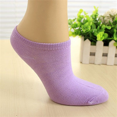 1 Pair of Women Socks Girl Female Lady Short Cotton Socks Candy Color Ankle Boat Low Cut Socks Calcetines Mujer - Deals Blast