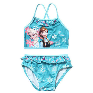 New Elsa&Anna Girl's Two Pieces Tankini Summer Style Cute Swimwear For Children&Kid's Bikini Sets 3-12Y Swimsuit - Deals Blast