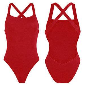 2017 bodysuit Sexy one piece swimsuit Backless Swimwear women back cross Bathing suit swimming for women Monokini beach wear - Deals Blast