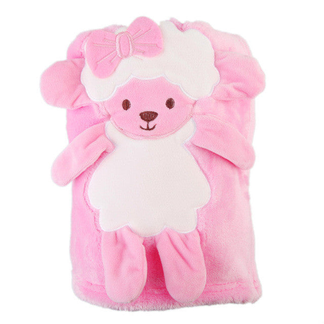 100x78cm Velvet Baby Blankets Baby Winter Boy Girl Birthday Gift Newborn Soft Warm Velvet Plush Animal Toy - Deals Blast