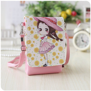 New Cartoon print PU Leather Women Shoulder Bags Female Purse and Handbags Girls Children Mini Crossbody Bag bolsos: Deals Blast