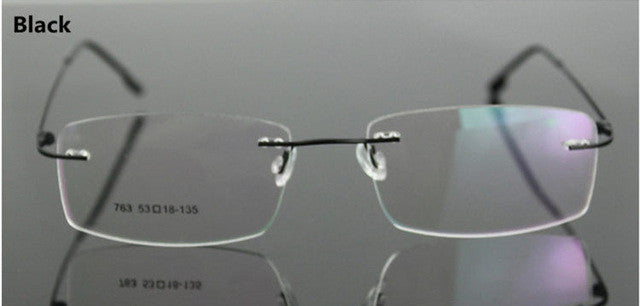 5e90175a37 Classic Mens Pure Titanium Rimless Glasses Frames Myopia Optical Frame  Ultra-light Titanium Business Frameless