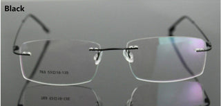 Classic Mens Pure Titanium Rimless Glasses Frames Myopia Optical Frame Ultra-light Titanium Business Frameless Eyeglasses Frame - Deals Blast