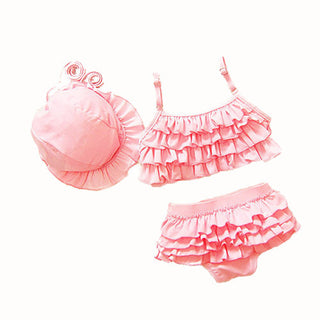 Actionclub Kids Swimwear Girls Two Pieces Child Swimsuit With Ruffle Mermaid Tails For Children Bikini Baby Bathing Suit SA106: Deals Blast
