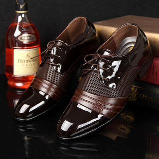 Classical Men Dress Wedding Flat Shoes Luxury Men's Business Oxfords Casual Shoe Black / Brown Leather Derby Shoes - Deals Blast