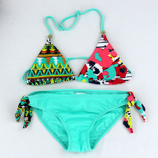 New Children Swimwear Baby Kids Cute Bikini Girls split Two Pieces swimsuit Bathing suit Beachwear kids biquini infantil - Deals Blast