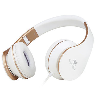 Headphones with Microphone and Volume Control Foldable Headset for iPhone 6/6s iPad/iPod, Android Device: Deals Blast