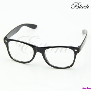 Fashion Glasses Cool Unisex Clear Lens Nerd Geek Glasses Eyewear For Men Women - Deals Blast