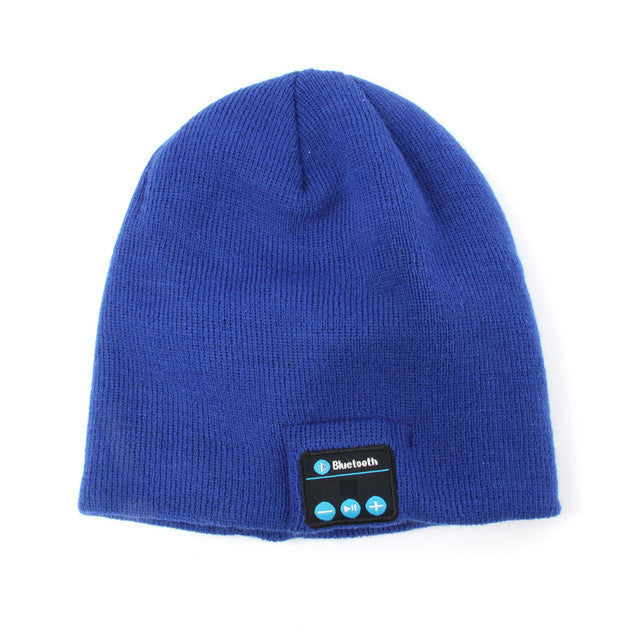 04dde63ece9 ... Smart Wireless Bluetooth Cap Headphone Headset Speaker Magic Hat Mic  Soft Warm Beanie Hats - Deals ...