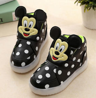 Children Shoes With #LEDLight Boys Shoes Autumn Winter New Cartoon Dot Girls #Sneakers Kids Sport Shoes Size 21-30 - Deals Blast