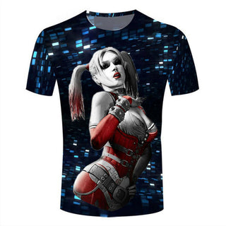 Harley Queen 3D Printed T-shirts Women Summer Shirts  Hip Hop Tees  Fashion Short Sleeve Tops Cool Bling Clothing Camisetas - Deals Blast