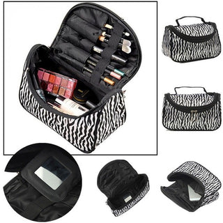 Toiletry Kit Travel Necessaries Necessaire For Women Make Up Makeup Cosmetic Bag Organizer Beauty Case Pouch Vanity HandBag Pack: Deals Blast