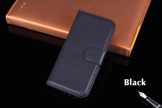 Luxury Leather Case Flip Cover Wallet Holster Sleeve Shell With Stand Card Holder For Samsung Galaxy S6 Edge G925 G925H G925F: Deals Blast