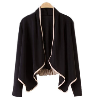 Women Loose Short Cardigan Coat Jacket Suits Blazer Bolero Irregular Shrug Tops