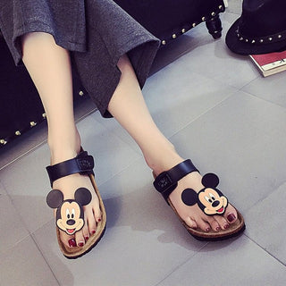 Summer women flat soft bottom cartoon thong flip flops hook&loop slippers casual simple girls designer sandals shoes: Deals Blast