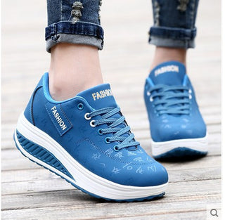 Slimming swing shoes women platform casual shoes pu breathable female single shoe weight loss flat outdoor Shoes - Deals Blast