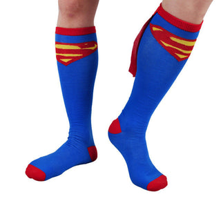 new high quality comfortable soft 1 pair long batmen men women socks hosiery wonder woman superman costume accessories - Deals Blast