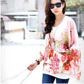 Plus Size Women Clothing 6XL Summer Style Novelty Batwing Vintage Shirts Long Tops Women's Bohemian Dress Mini Blusas - Deals Blast