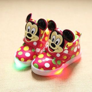 Hot SALE Children Shoes With Light Popular in Europe Boys Shoes Autumn Winter Girls Cartoon Sneakers Kids Led Sport Shoes - Deals Blast